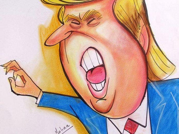 Resultado de imagen para Caricaturas de Trump