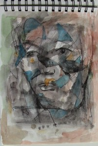 Abstract face a la Picasso