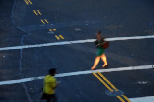 New York _2011 woman on crossroad