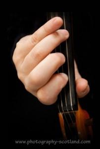 A fiddler's left hand