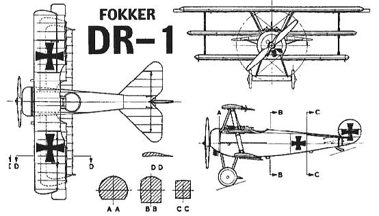 THE WORLD MODELS Fokker Dr-1 Radio Control Scale Model