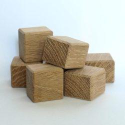 cuburi mici din lemn de stejar pentru seturi de constructii pentru copii