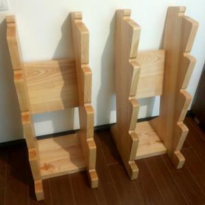 am folosit un panou din lemn de frasin de 4 cm grosime pentru a stabiliza suportul de gantere cu spate si talpa cu greutate cat mai mare