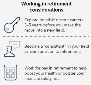Working in retirement considerations