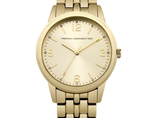 FRENCH CONNECTION WOMEN'S STEEL BRACELET CASE QUARTZ ANALOG WATCH SFC108GM
