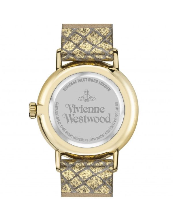 Vivienne Westwood Burlington Gold Snakeskin Strap Ladies' Watch VV170GDMT 1