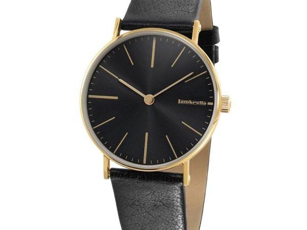 Lambretta 2181Bla–Watch For Men, Leather Strap Black