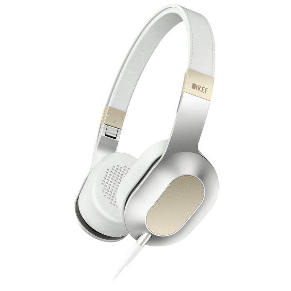 KEF M400 Over-Ear Hi-Fi Headphones - Champagne White