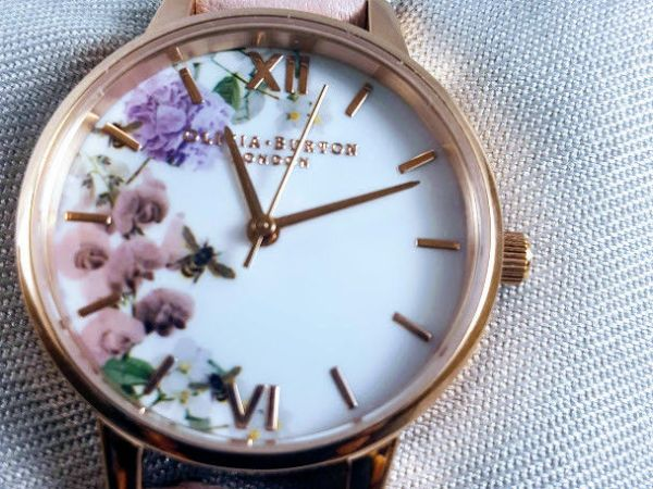 LADIES OLIVIA BURTON ENCHANTED GARDEN FLORAL WATCH OB16EG56