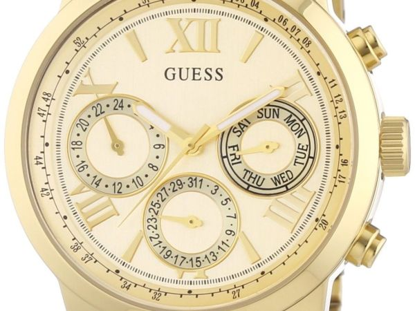 Guess Women's Chronograph Quartz Watch with Stainless Steel Bracelet – W0330L1