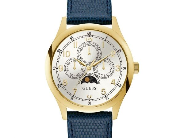 Guess Kensington Mens Dress Multi Gold Round W1111G1