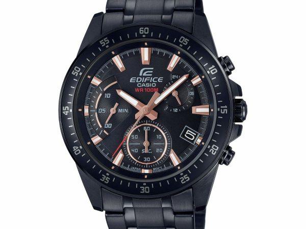Casio Edifice Men's Black Stainless Steel Bracelet Watch EFV-540DC-1BVUEF