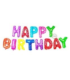Globo Happy Birthday Metalico de Colores