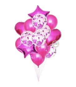 Globo Bouquet Fucsia set14