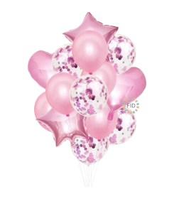Globos Bouquet Rosado set14