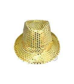 Sombrero Dorado de Lentejuelas con Luz