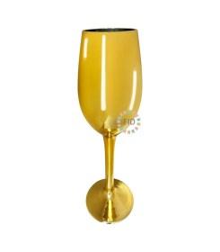Copa de Vidrio Galvanizado Dorado