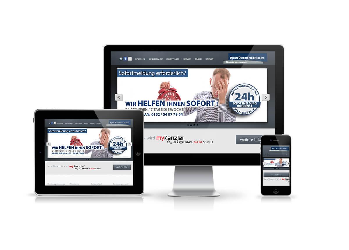 Webdesign Relaunch für Steuerberater Heddens