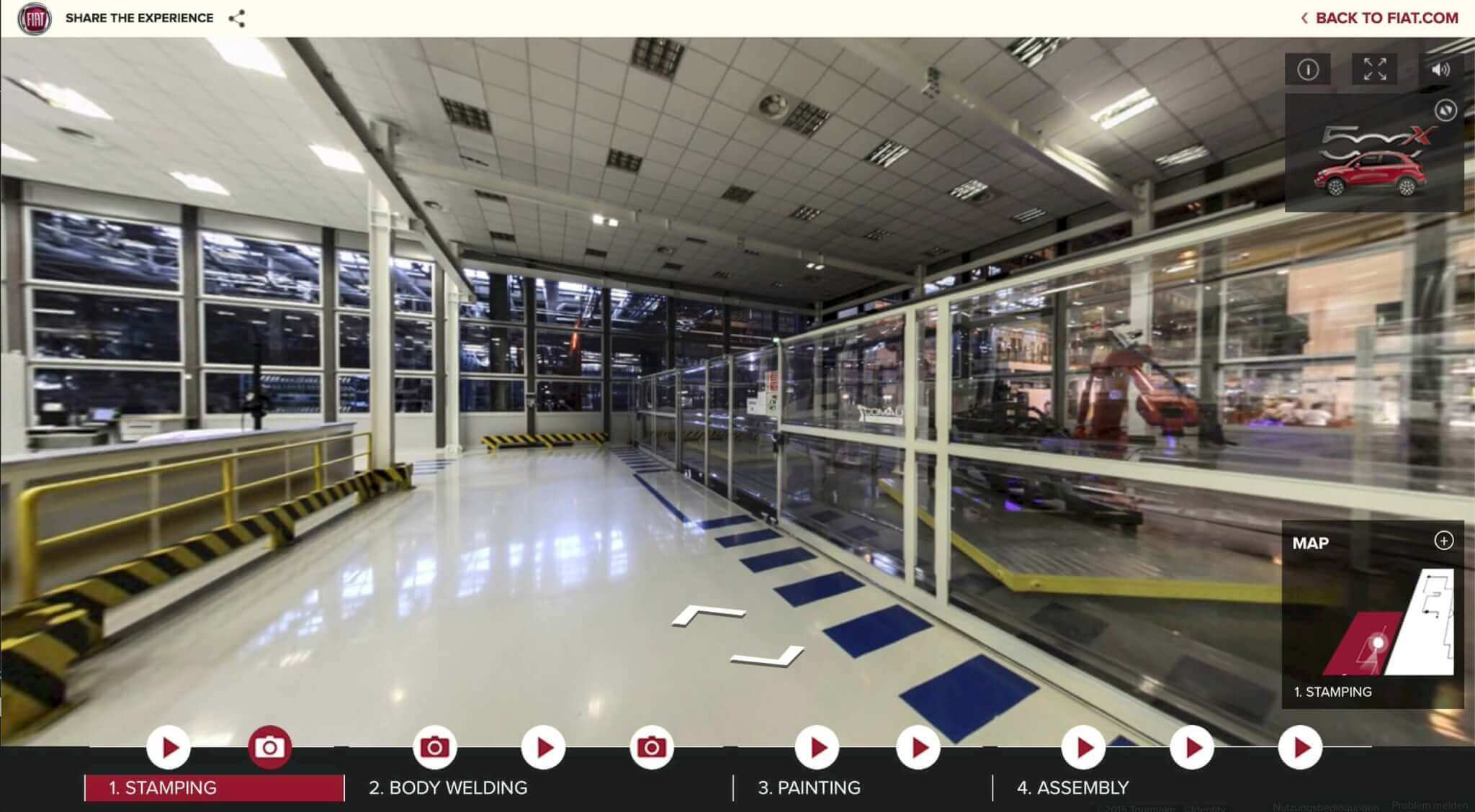 Google Street View im Fiat Werk