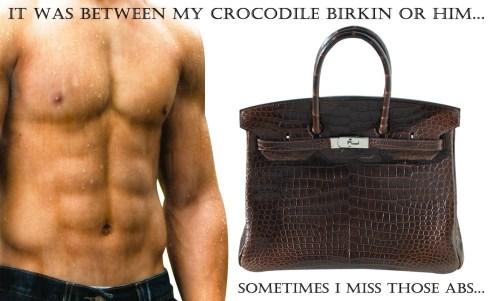 brown croco blog with casteller