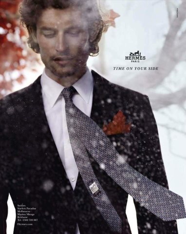 Hermés Fall Winter 2012 Ad Campaign with Nathaniel Goldberg and Bette Frank.