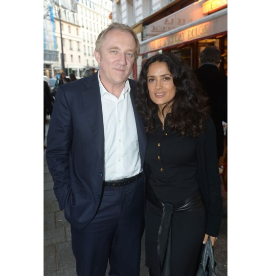 Salma Hayek and Francois Pinault at stone