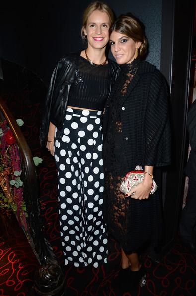 Bianca Brandolini and Eugenie Niarchos at Moncler, Paris