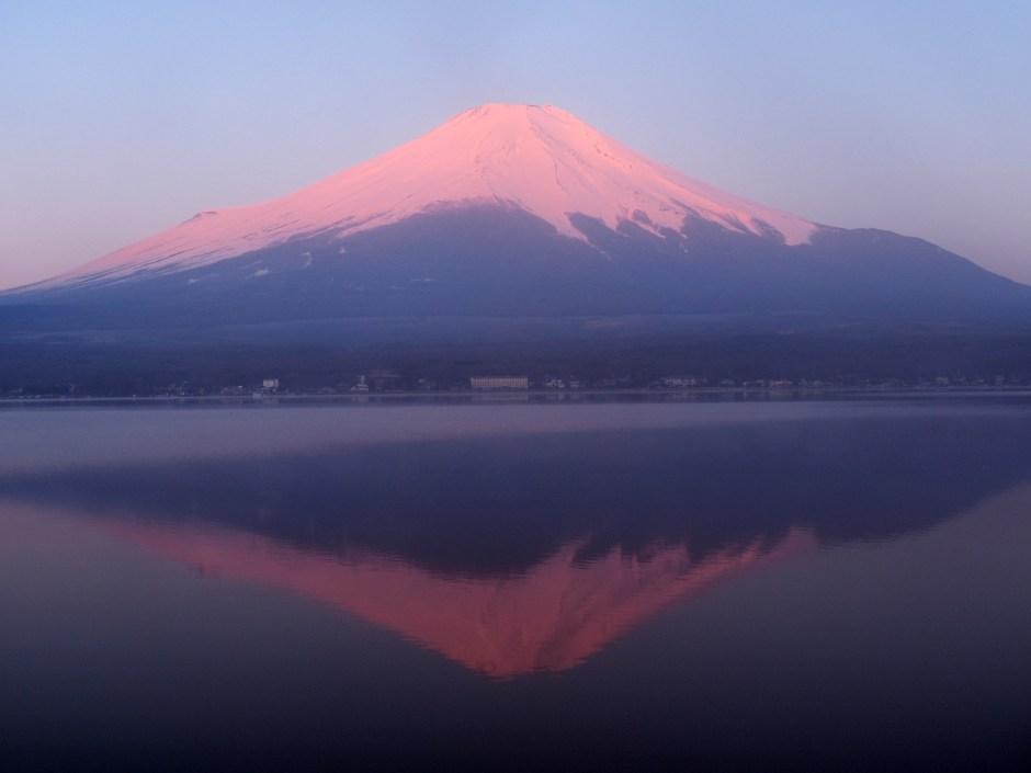 """『逆さ富士』河口湖/""""Upside Down Fuji"""" At Karaguchi Lake"""