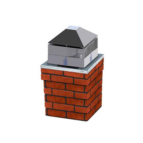 flue sentinel chimney fan with damper