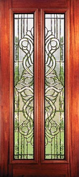 Stained glass doors  Beveled glass doors and Leaded glass