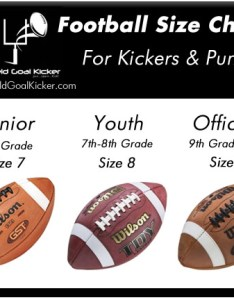 Football sizes chart also for kickers punters join learn kick with fgk rh fieldgoalkicker