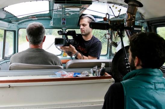 Gordon, Martin und Nick unterwegs in Gordons altem VW Bus (Foto: KariWilton)