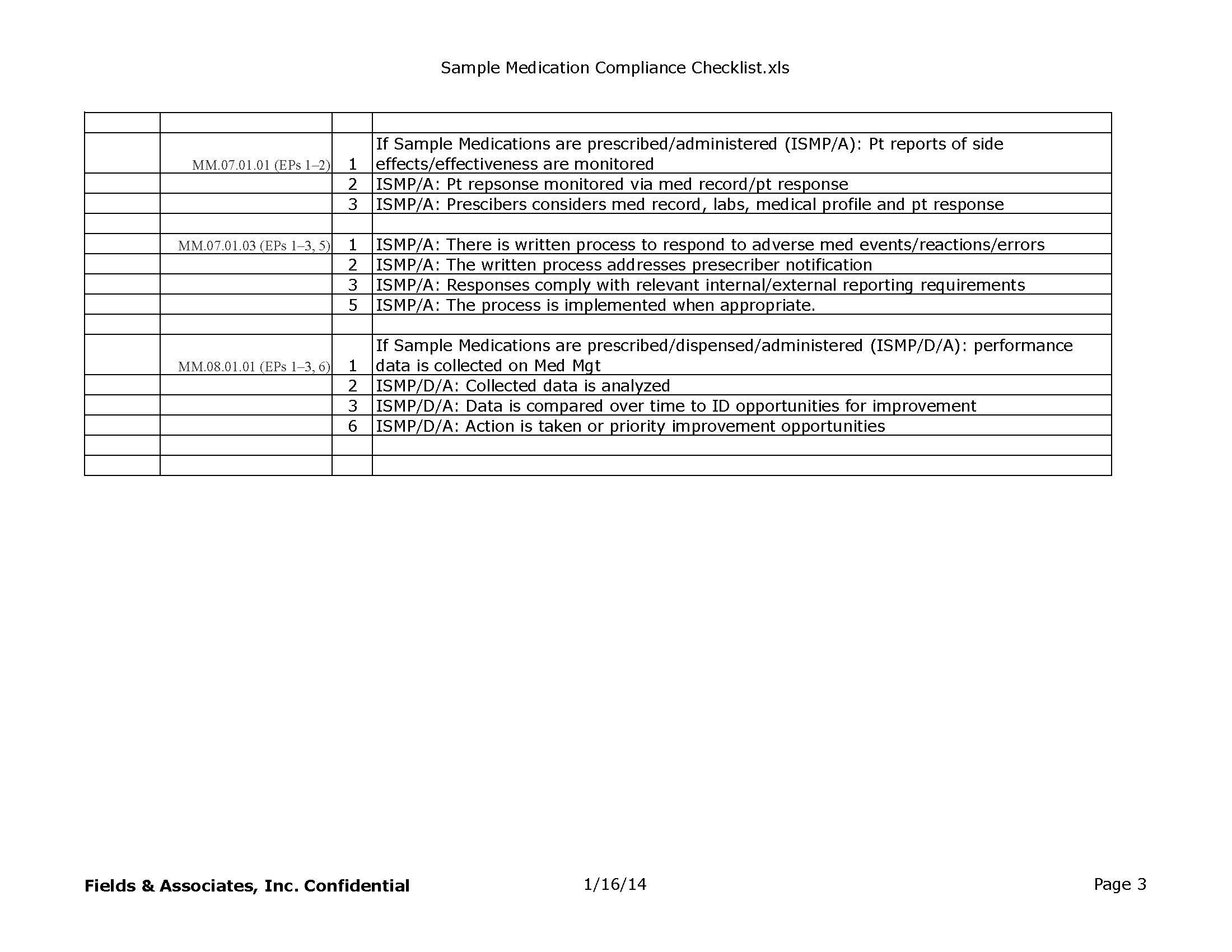 JC_Stnds_MM-Sample Medication Checklist | Fields & Associates, Inc ...