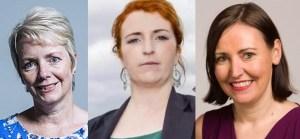 Anti-gun MPs: Karin Smyth, Louise Haigh, Vicky Foxtrot