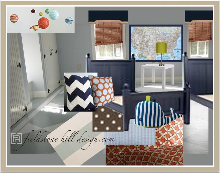 Design In Progress The Boys Room Sneak Peek Fieldstone Hill Design