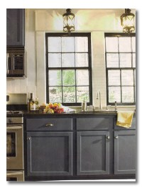 dark cabinets blue gray - Fieldstone Hill Design