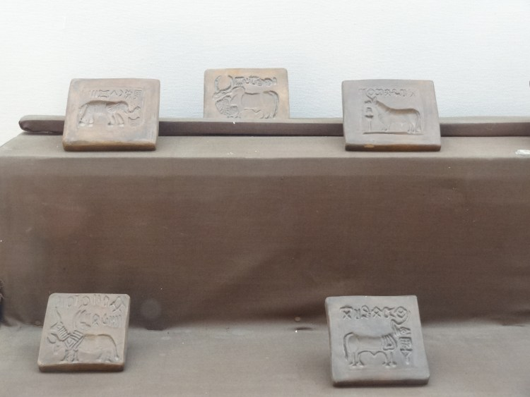 Seals from Mohenjo-daro museum