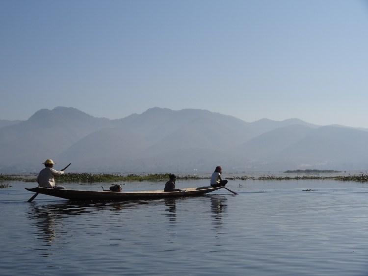 Boat on Inle Lake