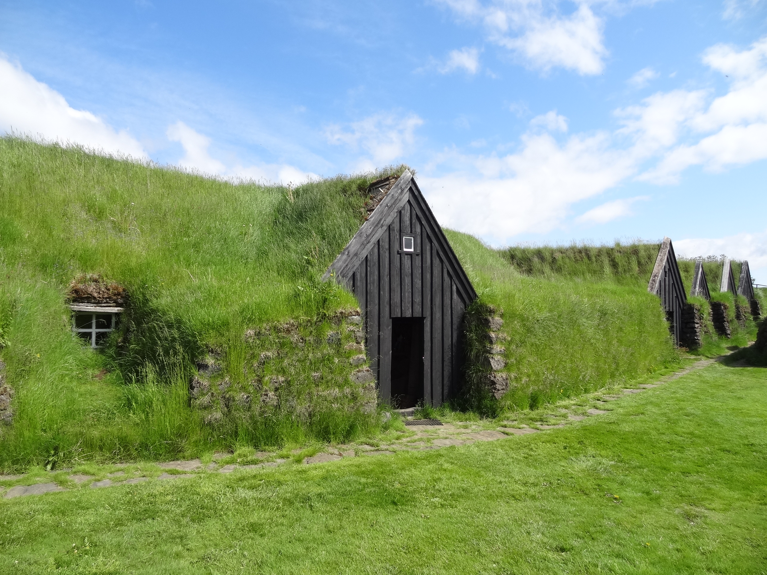 Turf Houses Traditional Green Buildings Iceland on Icelandic Turf House