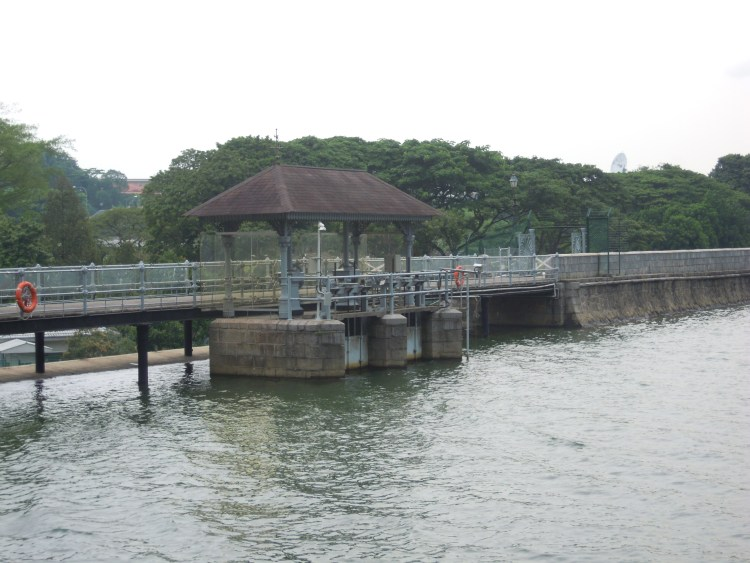 Water management dam at MacRitchie reservoir