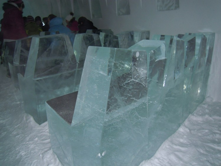 Seats in the ice chapel