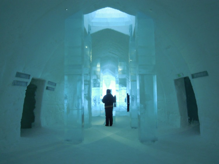 The entrance of the Icehotel