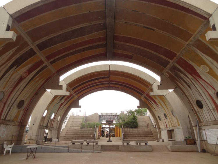 Vaults and public square at Arcosanti