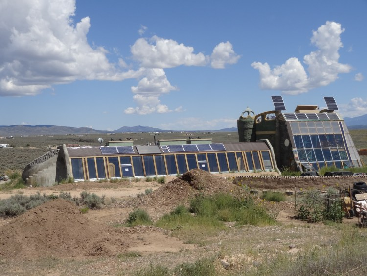 One of the Earthships at the Greater World Earthship Community