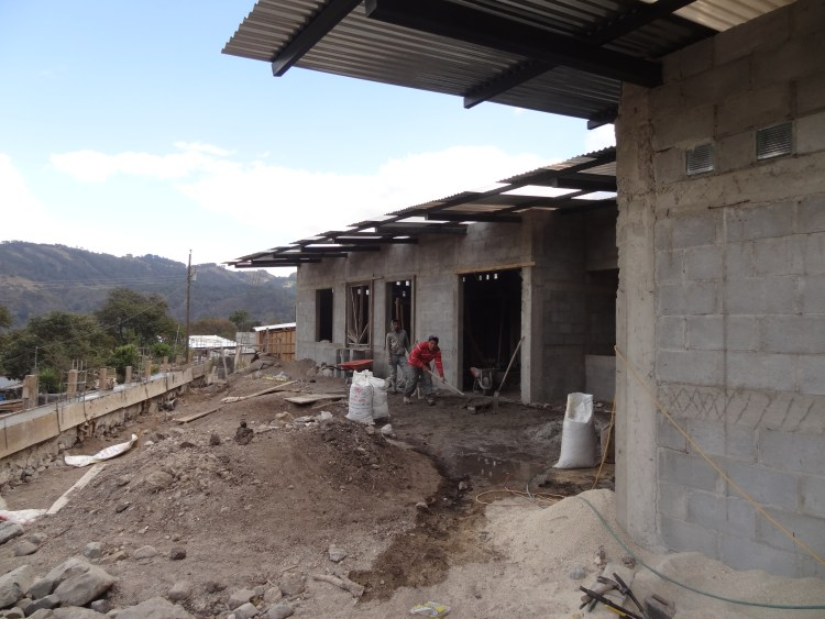A Mayan Families preschool under construction