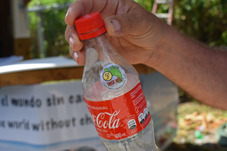Recyclable bottle at the Plastic Bottle Village