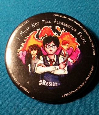 Potter #Resist Button