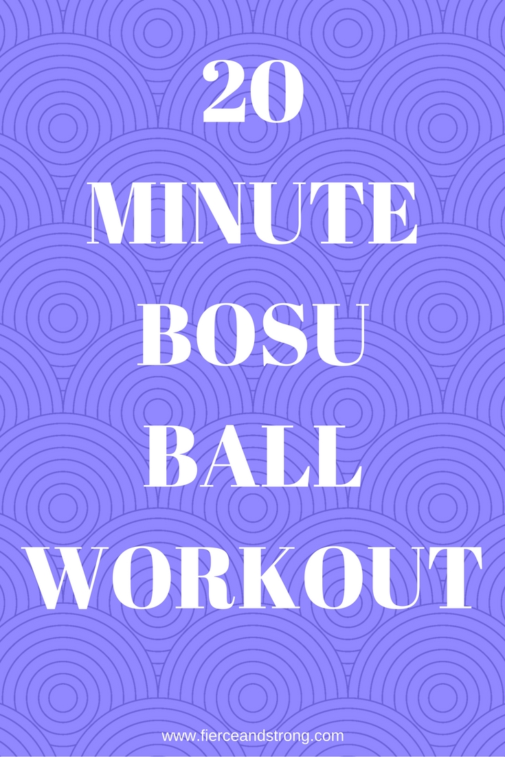 Have you ever wondered what to do with the Bosu ball at your gym? Here is a 20 minute Bosu ball workout that will help you get started!