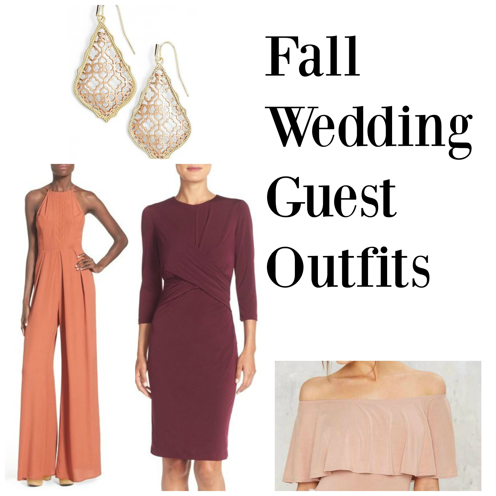 Fall Wedding Guest Outfits - Fierce Looks