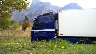 Ronflette en Maurienne avec le Carrier en continu avec un complet de surgelé made in italie